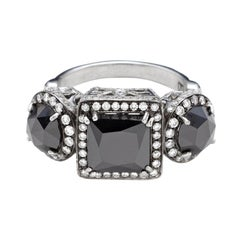 Anna Sheffield Platinum 5.99 Carat Black Diamond Astarte Engagement Ring