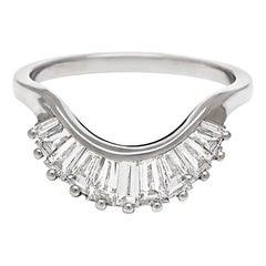 Anna Sheffield 0.75ct  White Diamond Baguette Curve Wedding Band