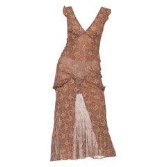 Anna Sui 1993 Grunge Floral Bias Dress