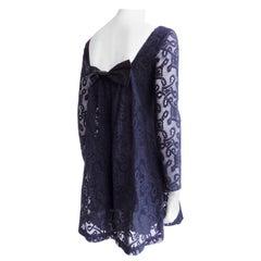 Anna Sui Black Lace Dress