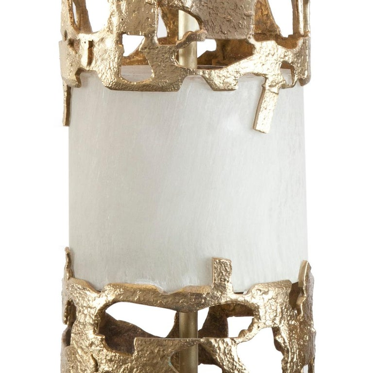 Anna Table Lamp Bronze and Selenite In New Condition For Sale In Paris, FR