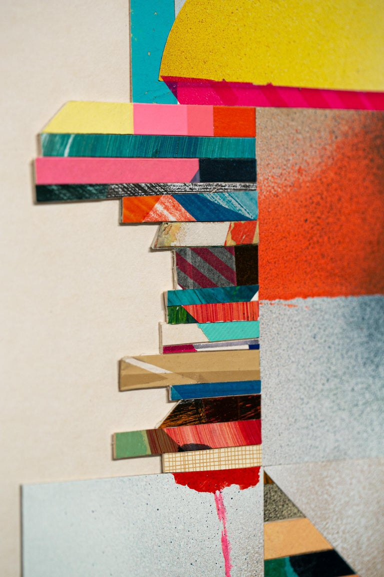 Bit 3 - Beige Abstract Painting by Anna Taratiel