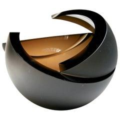 Anna Torfs Armadillo Sphere Glass Sculpture or Vase in Bronze