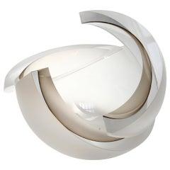 Anna Torfs Armadillo Sphere Glass Sculpture or Vase in Smoke