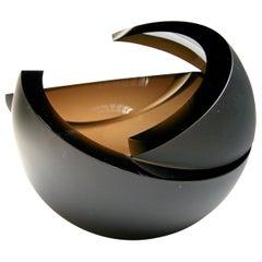 Anna Torfs Armadillo Sphere Glass Sculpture / Vase in Bronze