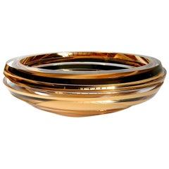 Anna Torfs Parts Coupe Gold Glass Sculpture / Vase