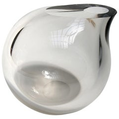 Anna Torfs Vaza Glass Vase or Sculpture in Smoke