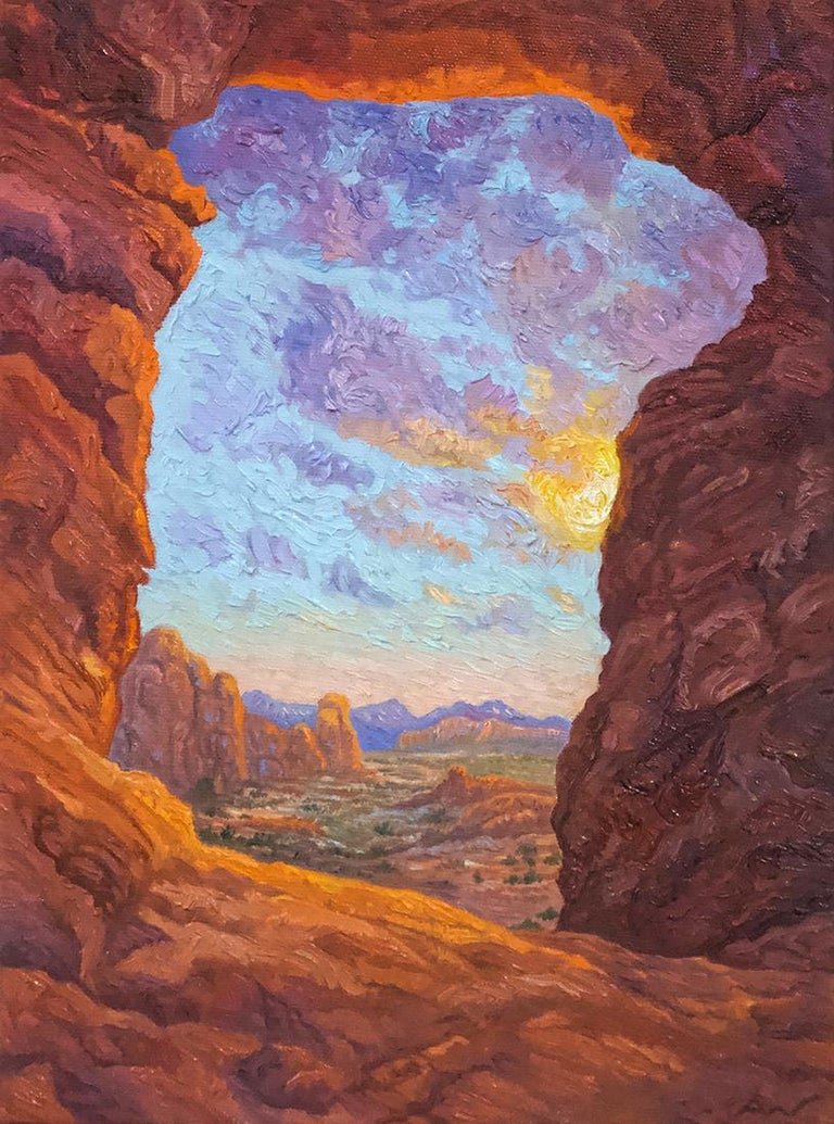 Anna Widmer Landscape Painting - Light the Way