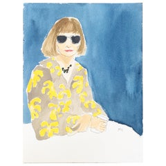Anna Wintour, One of a Kind Watercolor