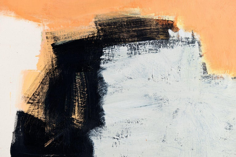 Sand, Painting, Acrylic on Canvas - Orange Abstract Painting by Annabel Andrews