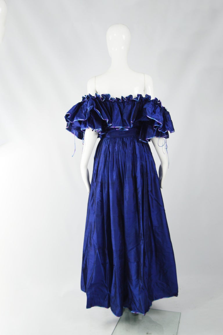 Women's Annabelinda 1970s Silk Romantic Evening Dress For Sale