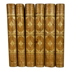 Annals of Stage, English Queens, Retired Monarchs 6 Leatherbound Volumes
