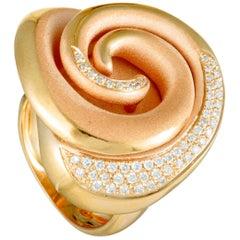 Annamaria Cammilli Hypnosis 18 Karat Rose Gold Diamond Flower Ring