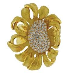 Annamaria Cammilli Mirage Diamond Gold Flower Ring