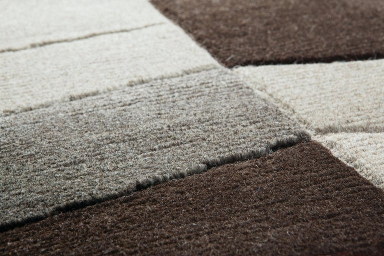 Annapurna carpets by Bartoli design are hand knotted in Himalayan undyed wool, hand knotted with 60 knots per sqm Special treatments are reserved for this kind of material, and it gives such a particular consistency and colors Inspired by Nepalese