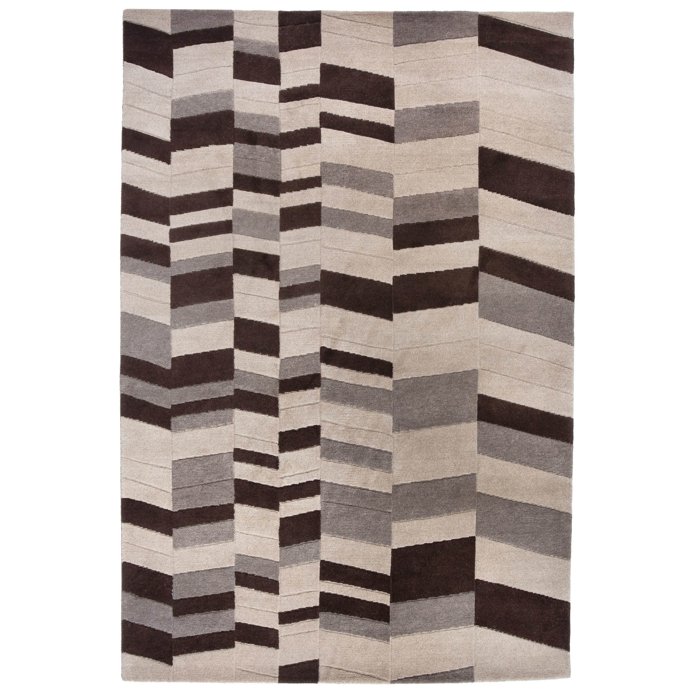 Annapurna Carpet, Hand Knotted, Himalayan Wool, 60 Knots, Bartoli Design