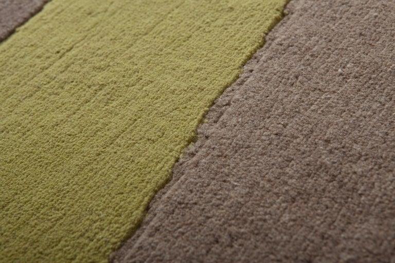 Annapurna Green Carpet, Hand Knot, Himalayan Wool, 60 Knots, Bartoli Design For Sale 3