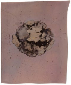 Enzyme Print (Abstract Camera-less Still Life Photograph in Light Mauve, Framed)
