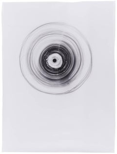 Saturn (Abstract Camera-less Still Life Photograph in Black & White, Framed)