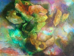089 Crystal Cave, Mixed Media on Canvas