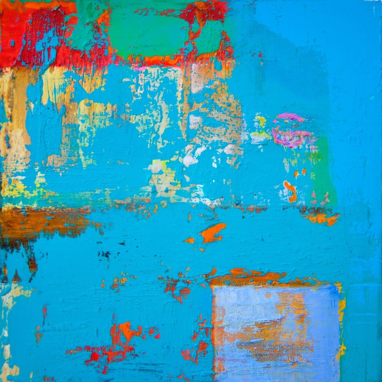Anne B Schwartz Abstract Painting - 157 Gratta Azzurra, Painting, Acrylic on Canvas