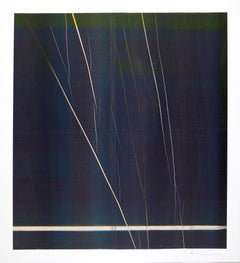 Anne Deleporte, Lightning, ink on newsprint mounted on Arches paper, abstraction