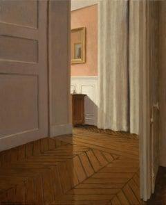 Anne Françoise Couloumy, L'entrée rue Renan 2, Oil on Canvas