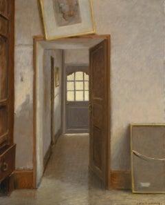 Anne Françoise Couloumy, Vers la Cour, Oil on Canvas