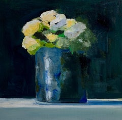 Mums by Anne Harney, Contemporary Floral Still Life Painting