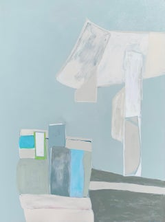 The Arrangement by Anne Harney, Blue Abstract Still Life Painting