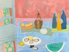 The Feast by Anne Harney, Horizontal Framed Abstract Still Life Painting