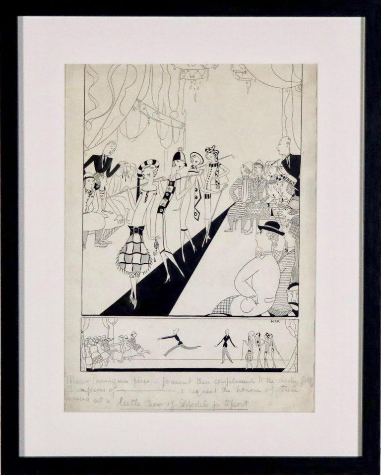 Medium: Pen and Ink on Paper Signature: Inscribed and Signed  Inscribed in pencil lower center