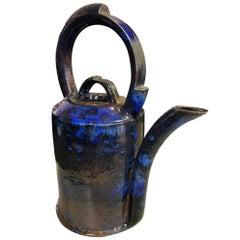 Anne Hirondelle Signed Large Ceramic Pottery Glazed Vessel Teapot