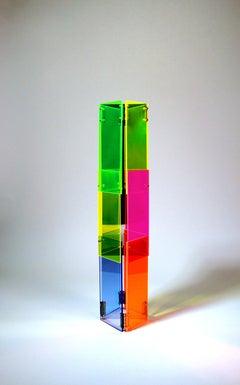 Babel 01 - Concrete Abstract Art Sculpture Color Geometric Minimalist Bauhaus