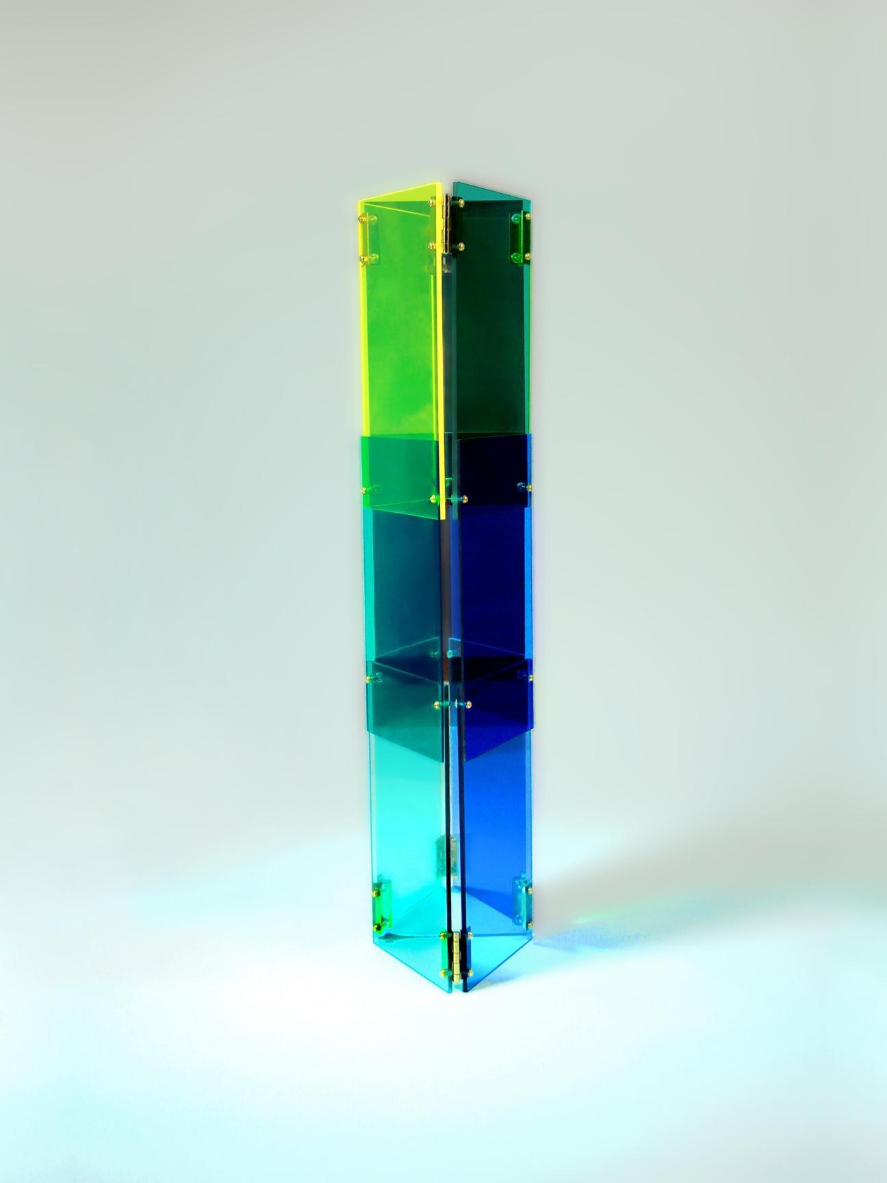 Babel 02 - Concrete Abstract Art Sculpture Color Geometric Minimalist Bauhaus