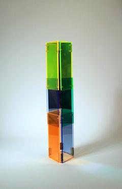 Babel 04 - Concrete Abstract Art Sculpture Color Geometric Minimalist Bauhaus