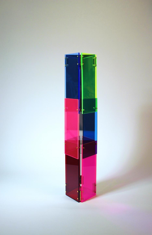 Babel 05 - Concrete Abstract Art Sculpture Color Geometric Minimalist Bauhaus