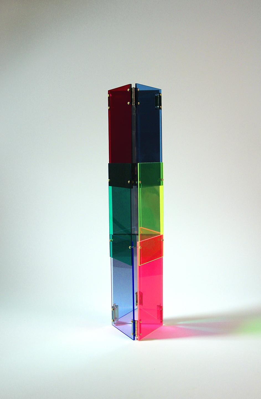Babel 06 - Concrete Abstract Art Sculpture Color Geometric Minimalist Bauhaus