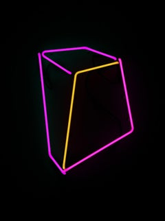 Soft Geometry Neon #13 Color Neon Pink Yellow Concrete Shape Abstract