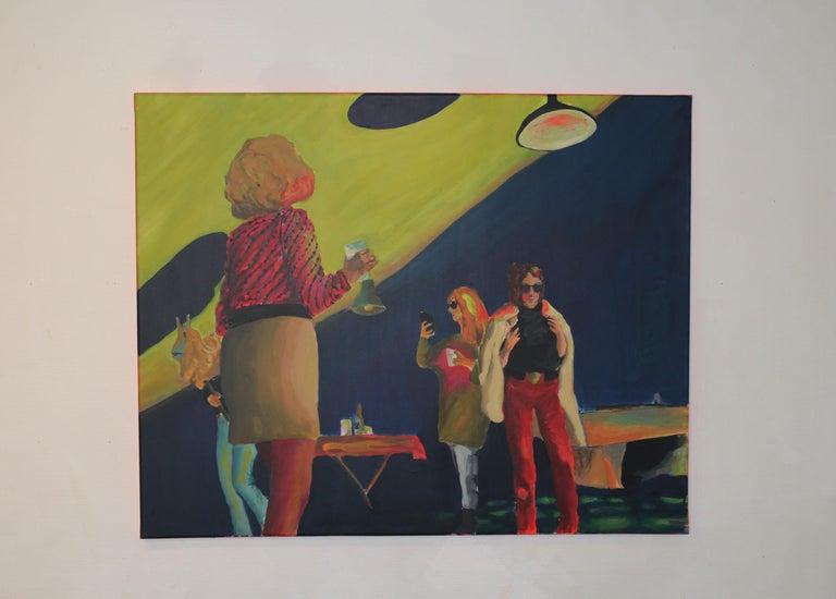 New moon, Acrylic on canvas, 80 x 100 cm, 2021 For Sale 1