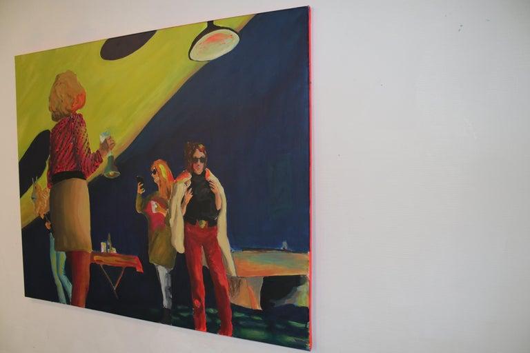 New moon, Acrylic on canvas, 80 x 100 cm, 2021 For Sale 2