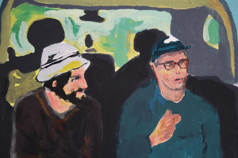 Départ, Acrylic on canvas, 90 x 120 cm, 2021 - Painting by Anne Lauroz