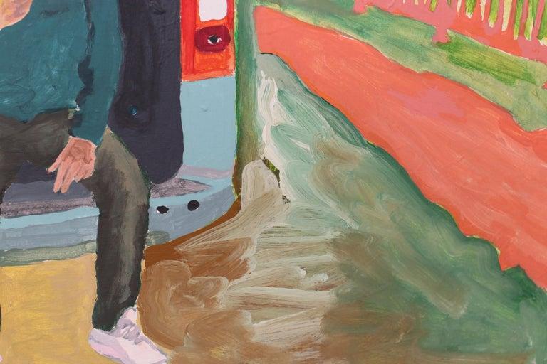 Départ, Acrylic on canvas, 90 x 120 cm, 2021 For Sale 1