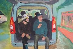 Départ, Acrylic on canvas, 90 x 120 cm, 2021