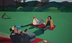 Le toboggan, Acrylic on canvas, 120 x 200 cm, 2021