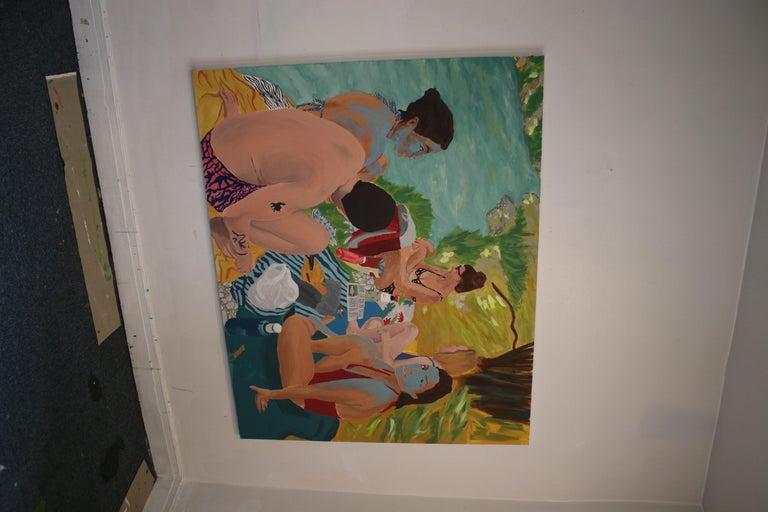 Tribu, Acrylic on canvas, 129 x 162 cm, 2021 For Sale 1