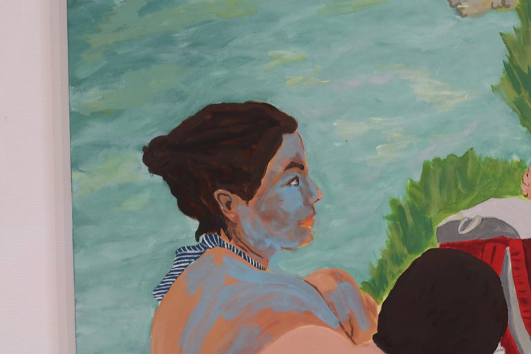 Tribu, Acrylic on canvas, 129 x 162 cm, 2021 For Sale 4