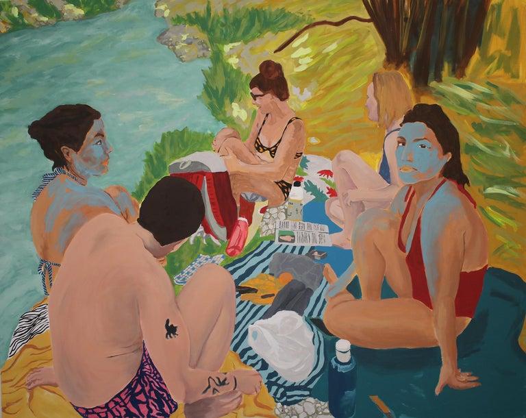 Tribu, Acrylic on canvas, 129 x 162 cm, 2021 - Mixed Media Art by Anne Lauroz