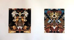 Los Angeles Contemporary Digital Kaleidoscope Collage Iris Double Print Proof