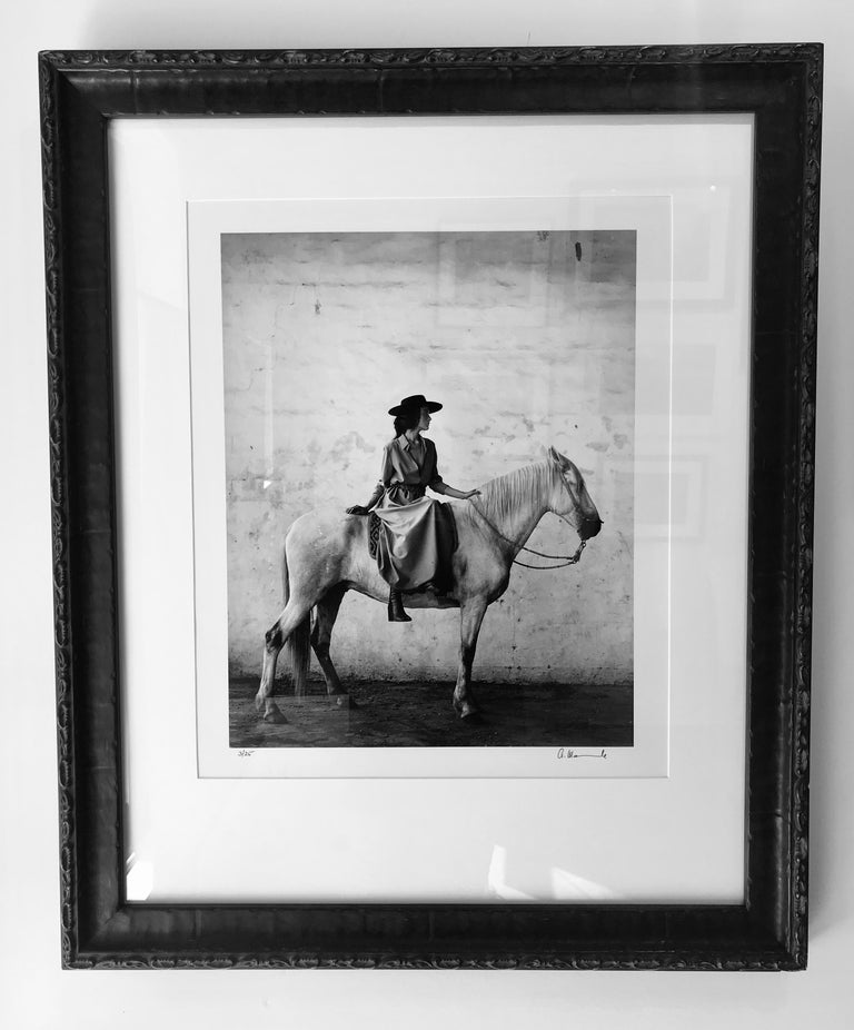 Model on Horse - Photograph by Anne Menke